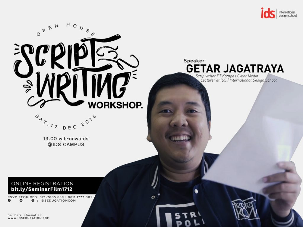 IDS Scriptwriting Workshop_poster